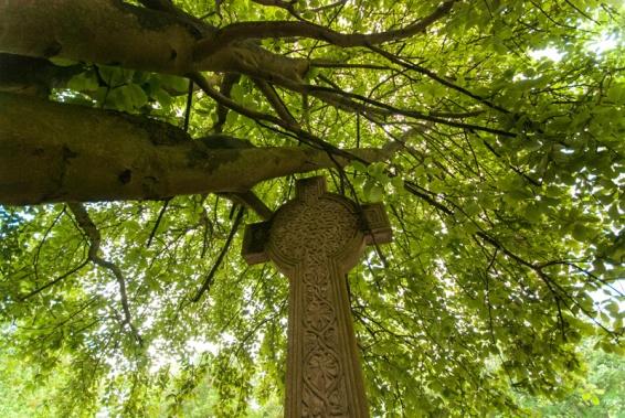 Celtic cross gravestone