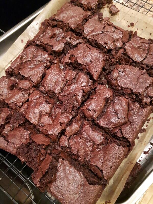 BBC good food vegan cherry and almond brownies